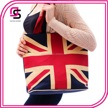 Top Fashion EuropeStyle canvas fabric bag with the union flag
