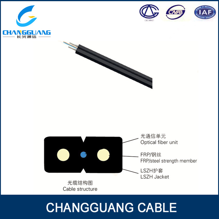 GJXFH/GJXH indoor Bow-type drop glass wire/FRP strength fiber cable price per meter