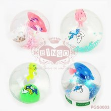 LED Glitter Bouncing Water Ball ,Picture Rubber Bouncing Ball