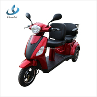 60V 1000W 2 seat electric mobility scooter double seat tricycle with CE approve