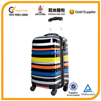 Yellow stripe suitcase of three pieces set