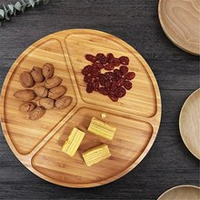Nature tea time dessert bamboo food tray