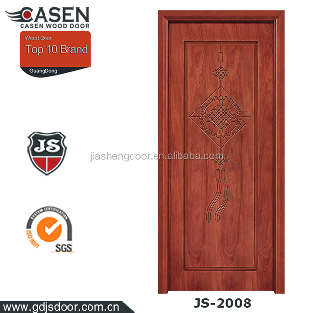 Classic design cheap internal HDF wood door in Guangzhou