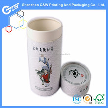 China supply recyclable tea paper box tube packaging