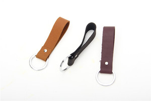 Promotion genuine leather keychain cheap wholesale