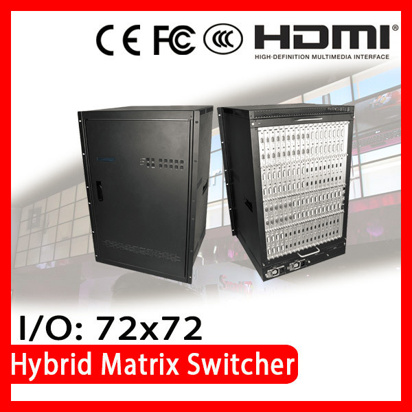 ISEMC HDMX-16U CE FCC Certified distributor wanted Audio and Video hybrid matrix switchers