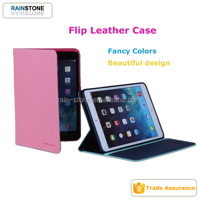 Useful soft protective colorful tablet smart cover flip case for iPad mini 4 manufacturer
