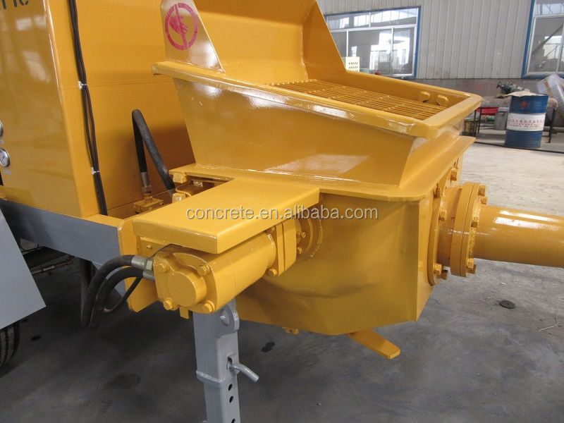 new condition mobile 20m3/h output concrete pump, type HBS20-8-37R, diesel engine for hot sale