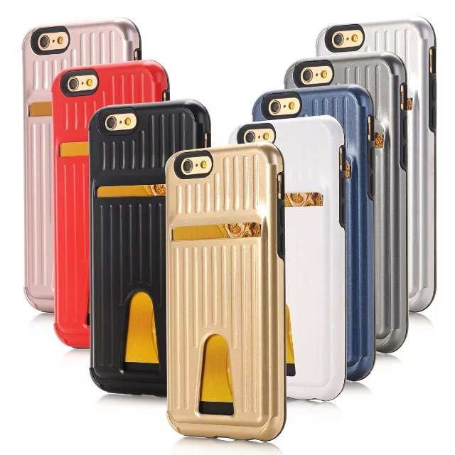 Suitcase Design Card Phone Case For iPhone,For Smart Phone Card Slot trolley case