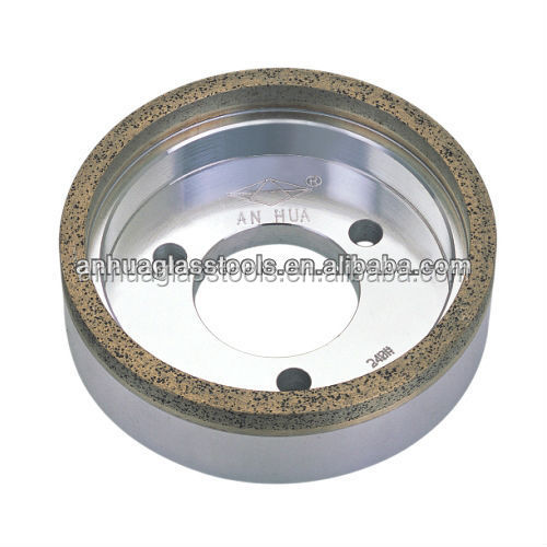 Diamond and metal bonded cup-shaped glass edging diamond wheel for edging machine