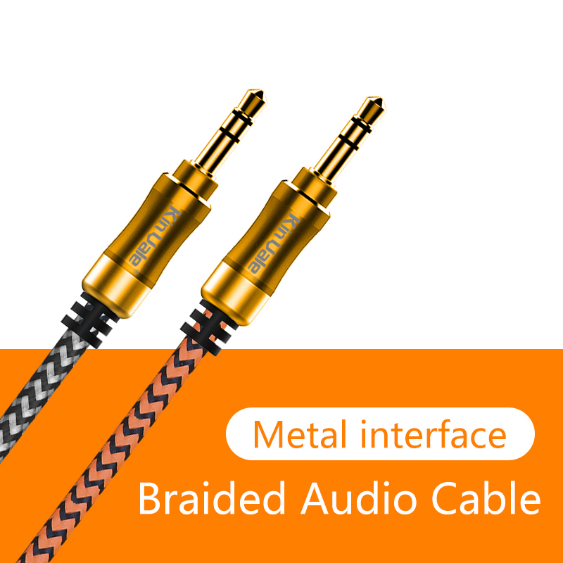 Kinvale 3.5mm Stereo Colorful audio to audio pvc Jack car aux composite audio cable for phone