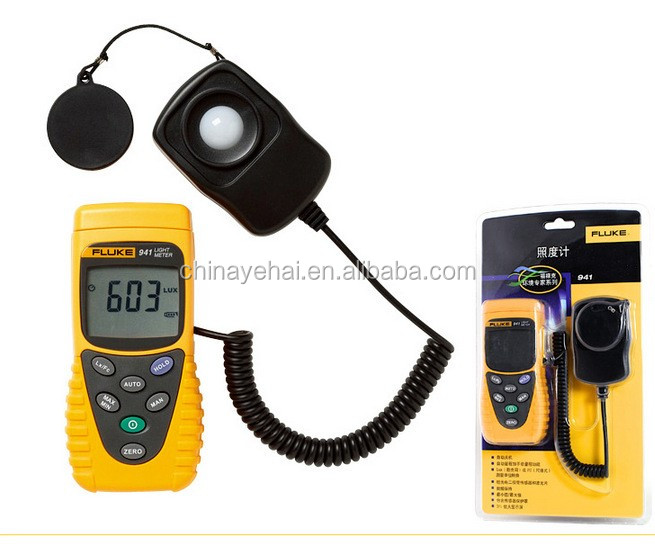 Original Handheld Fluke-941 Lux Meter,Light Lux Meter,Digital Lux Meter