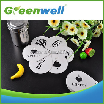 FDA/ LFGB/ DGCCRF certification Promotional various shape cappuccino coffee stencils