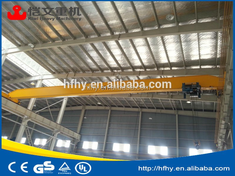 China factory direct supply 10 T single beam overhead bridge crane/LD model single beam hanging overhead travelling bridge crane