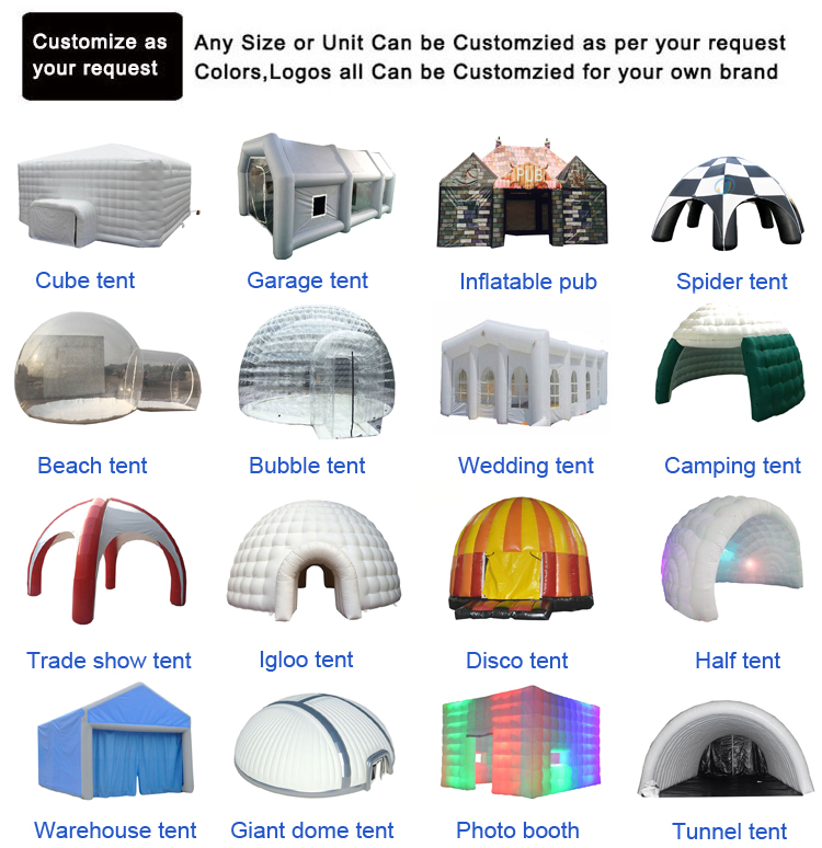 Outdoor Fireproof Large Inflatable Building Emergency Tunnel Tents Event Factory Price Hospital First Aid Medical Tent For Sale