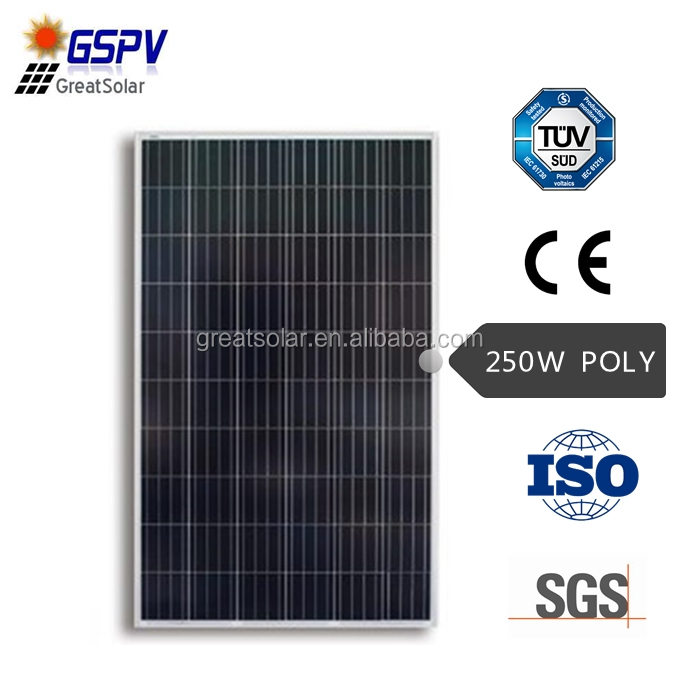 2017 HOT SALE 250w poly solar panels in Dubai