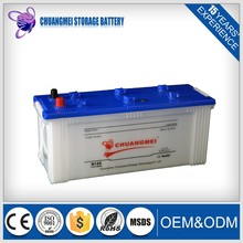 OEM!120Ah white dry charged JIS 12v auto car battery in stock
