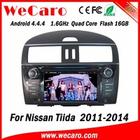 Wecaro WC-NT8078 Android 4.4.4 car multimedia system in dash touch screen car dvd player for nissan tiida android GPS