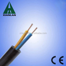 2 core PVC jacket electrical wire pvc cover