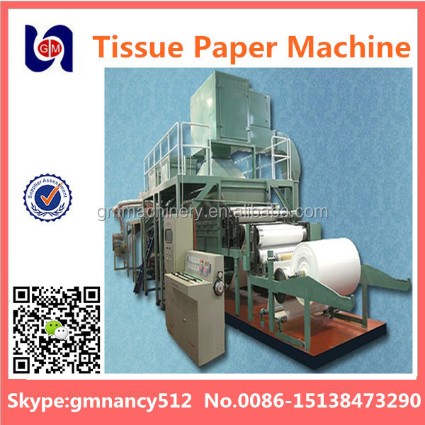 787mm tissue recycling paper making machine price,tissue paper making machine,waste paper and wheat straw as raw material