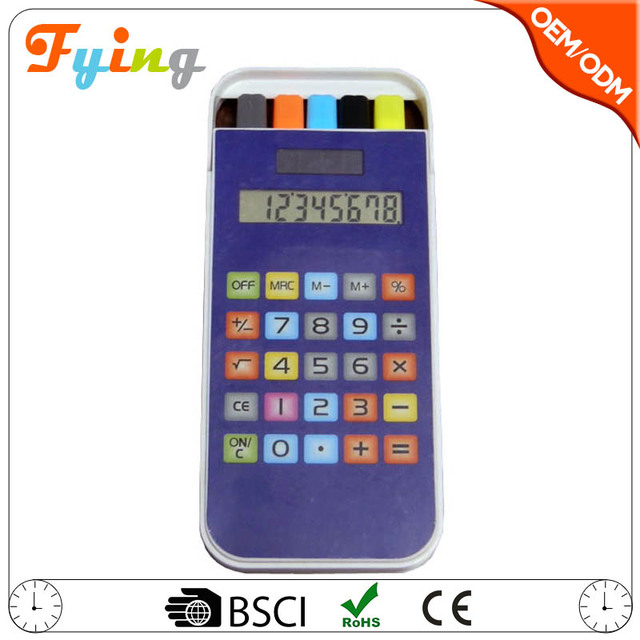 promotion product 8 digits electronic touch screen calculator with pen box hot