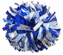 Team sports holographic laser metallic cheerleading pom poms
