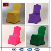 Hot Sale Popular 200gsm Colorful Wedding Used Spandex Chair Covers