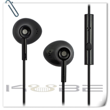 Pure color black earphone triangle headphone with microphone