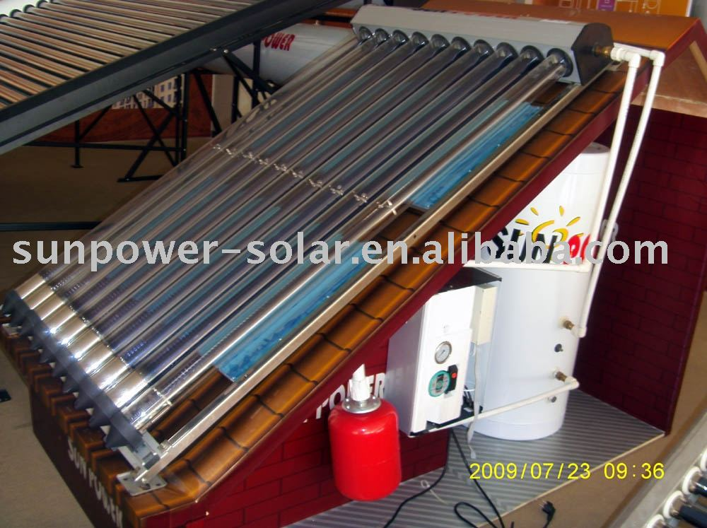 separated pressurized solar water heater heat pipe