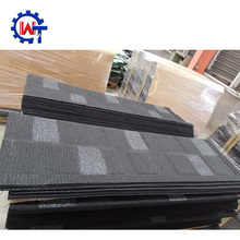 Resistance to impact color stone chips metal shingle roof tiles