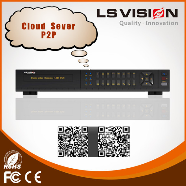 LS VISION 8ch network dvr networking h 264 dvr fiber optical network adapter