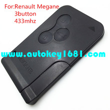 MS car remote key smart card 433mhz pcf7941 id46 chip for renault megane smart key