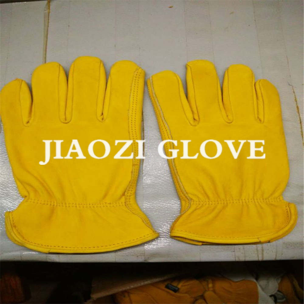 Light Duty Cut Resistant Grain Leather Work Gloves