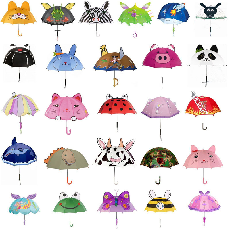 wholesale boys and girls cheap personalized 3D frog animal umbrella