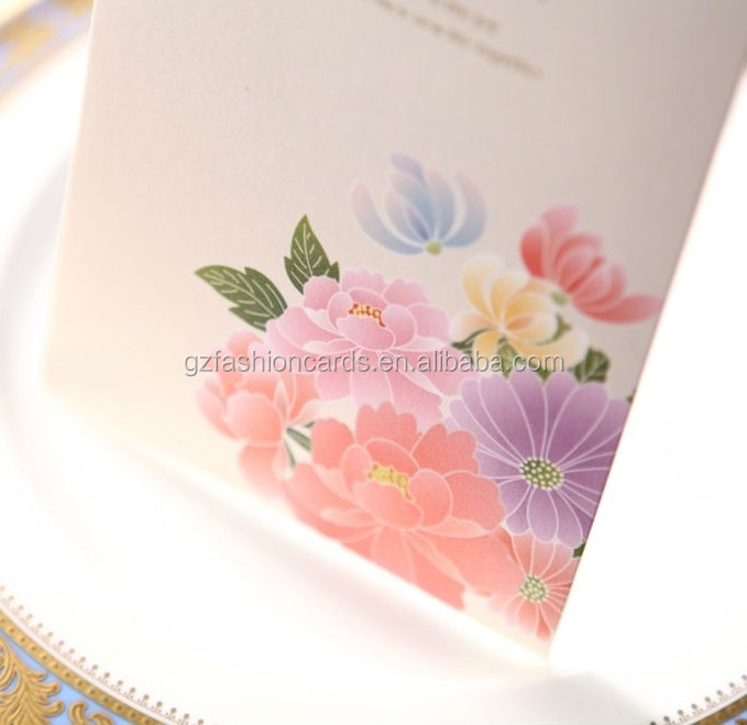 Fancy Chinese Decoration Items Wedding Card Holder Invitation Cards Models