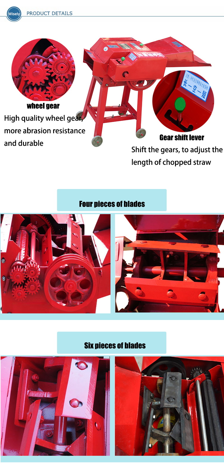 Wholesale grass chopper machine for animals feed