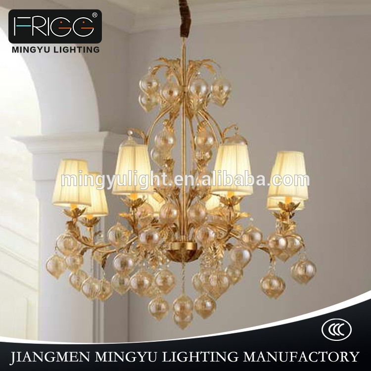 Modern glass chandelier pendant lamp , large iron chandeliers for hotels