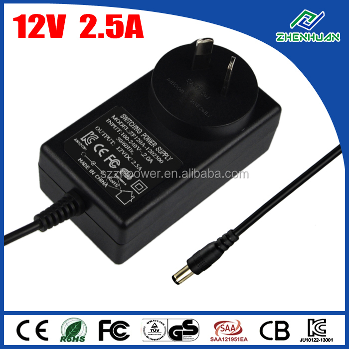 30W power supply 12V 2.5A re7-40 power adapter for panasonic shaver