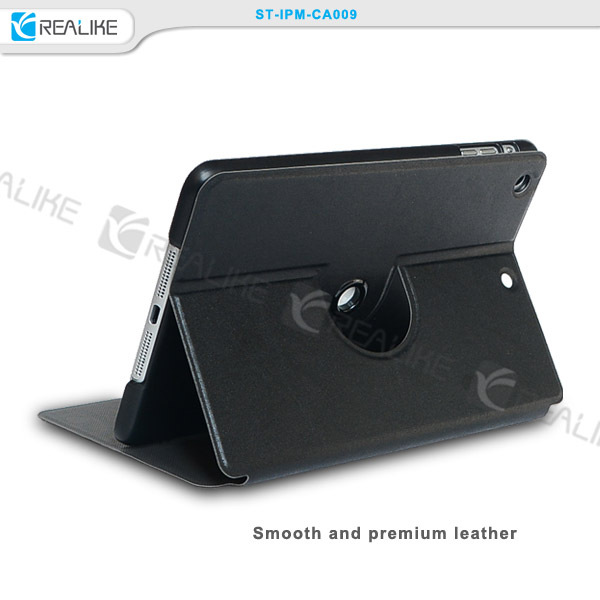 360 degree rotating tablet leather case for ipad mini 3, stand case for ipad mini 3