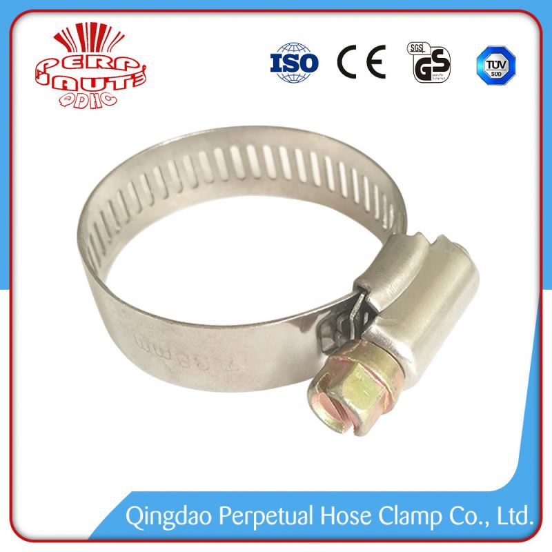 China Manufacturer Low Price steel zinc plated america style hose clamp