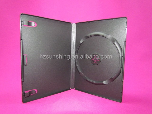 7mm 14mm black media single double storage DVD case