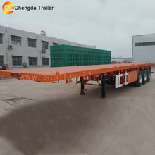 2016 Chinese 40 Feet Tri-axle Transport 40 Ton Container Platform Semitrailer