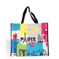 Colorful printed shoulder bag, lady Non-woven tote shopping bag