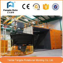 Quality-assured rotational moulding machine for making water tank plastic