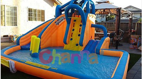 residential inflatable water slides, inflatable mini water slide water park