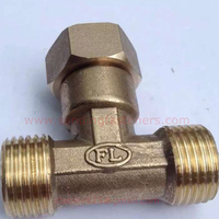 Brass male femal thread Tee pipe fittings for Water heater