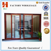 China suppliers aluminium profile bullet proof toughened glazed sliding doors for sale