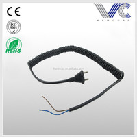 UL 3 Pin AC power cord extension spiral power cord
