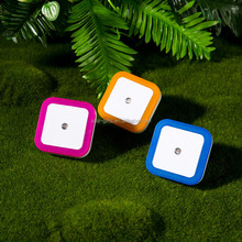 Small Auto Sensor Led Night Light Baby Bedroom Lamp Round Square LED Night Light