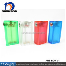 Hot selling ABS v2 dual 26650 box mod with one button on the right
